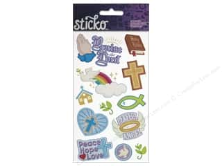 Religious Subjects Brown: EK Sticko Stickers Faith Icons