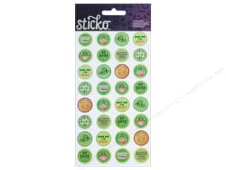 Saint Patrick's Day Craft & Hobbies: EK Sticko Stickers St Pats Kiss Seals