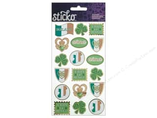 Punches Saint Patrick's Day: EK Sticko Stickers Erin Go Braugh