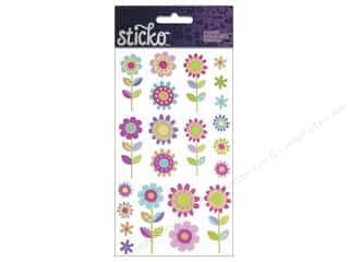sticker: EK Sticko Stickers Fun Fleur