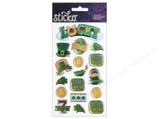 Flowers Saint Patrick's Day: EK Sticko Stickers Lucky