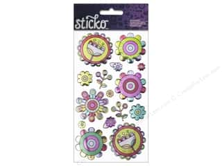 EK Sticko Stickers Fun Funky Flowers