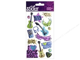 Music & Instruments $3 - $5: EK Sticko Stickers Rocker Chic