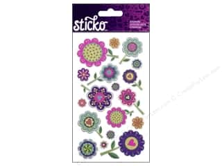 EK Sticko Stickers Designer Flowers