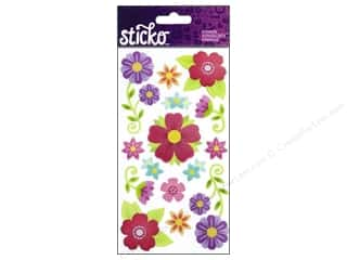 EK Success Dimensional Stickers: EK Sticko Stickers Layered Vellum Florals
