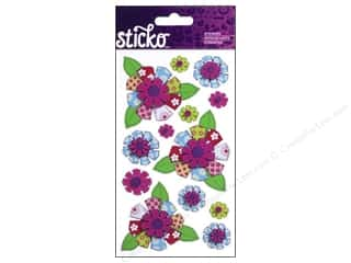 EK Sticko Stickers Patterned Flowers