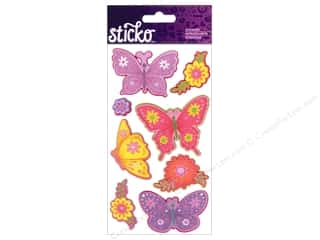 EK Sticko Stickers Layered Colorful Butterflies