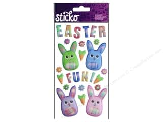 This & That Easter: EK Sticko Stickers Fabric Easter