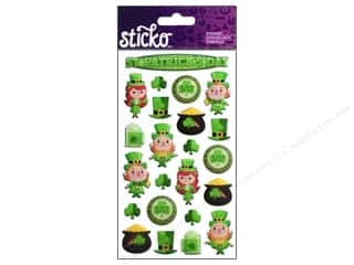 Suncatchers St. Patrick's Day: EK Sticko Stickers Leprechaun Fun