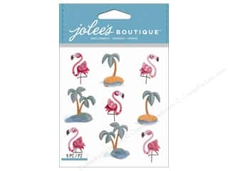 Wire Animals: Jolee's Boutique Stickers Flamingos & Palm Tree Repeat