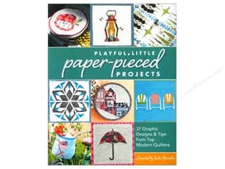 CD Rom $6 - $12: Stash By C&T Playful Little Paper Pieced Projects Book
