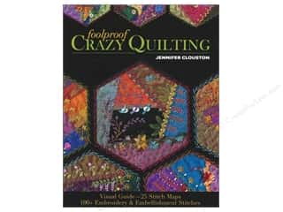 Ribbon Work Length: C&T Publishing Foolproof Crazy Quilting Book by Jennifer Clouston