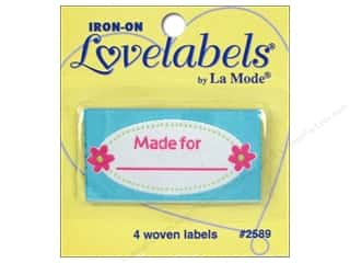 Love & Romance Blumenthal Iron-On Lovelabels: Blumenthal Iron-On Lovelabels 4 pc. Made For