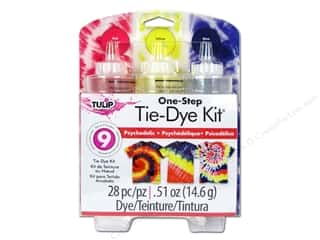 Stencils Projects & Kits: Tulip Dye Kits One Step Tie Dye Psychedelic 3 Color