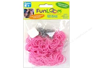 Looms Clearance Crafts: FunLoom Silicone Bands Sparkle Pink 300pc