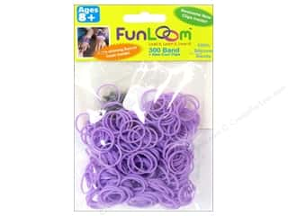 Elastic Clearance Crafts: FunLoom Silicone Bands Sparkle Lavender 300pc