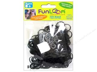 FunLoom Silicone Bands Sparkle Black 300pc