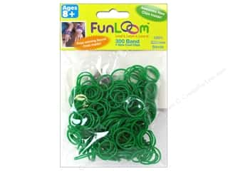 Looms Clearance Crafts: FunLoom Silicone Bands Sparkle Green 300pc