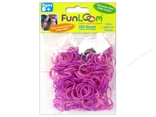 Looms Clearance Crafts: FunLoom Silicone Bands Tie Dye Pink & Purple 300pc