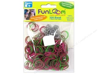 FunLoom Silicone Bands Tie Dye Pink & Green 300pc