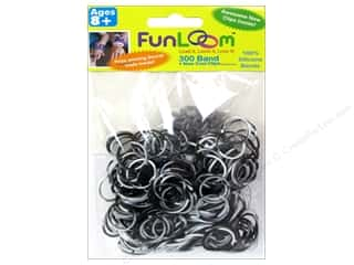 FunLoom Silicone Bands Tie Dye Black& White 300pc