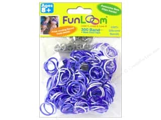 FunLoom Silicone Bands Tie Dye Purple & White