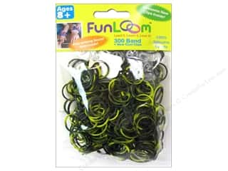 FunLoom Silicone Bands Tie Dye Yellow&Black 300pc