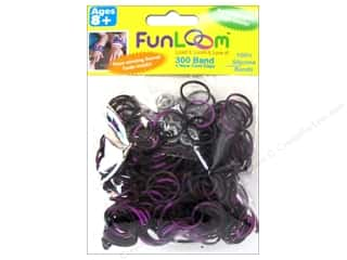 FunLoom Silicone Bands Tie Dye Purple&Black 300pc