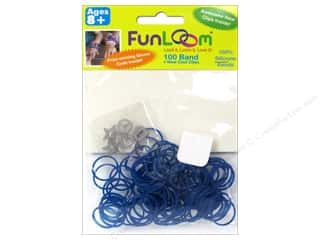 FunLoom Silicone Bands Mood Blue 100pc