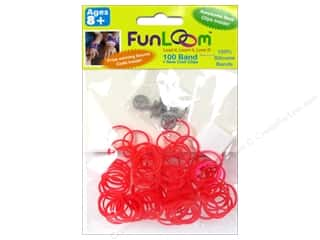 FunLoom Silicone Bands Mood Red 100pc