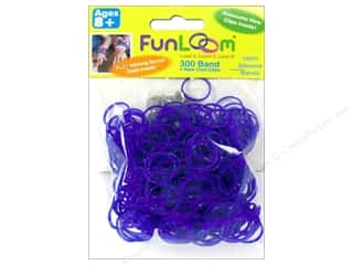 FunLoom Silicone Bands Sparkle Purple 300pc