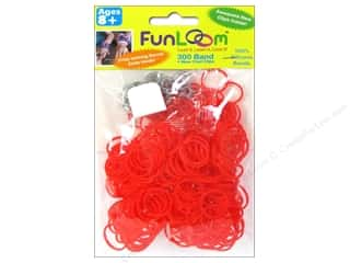 Kids Crafts Summer Fun: FunLoom Silicone Bands Red 300pc