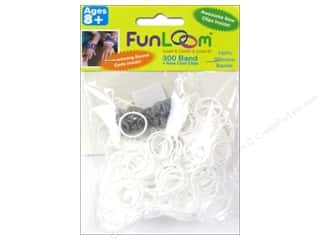 Kids Crafts Summer Fun: FunLoom Silicone Bands White 300pc