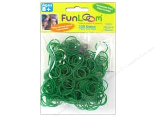FunLoom Silicone Bands Green 300pc