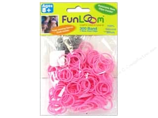 Kids Crafts Summer Fun: FunLoom Silicone Bands Pink 300pc