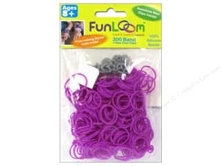 FunLoom Silicone Bands Purple 300pc