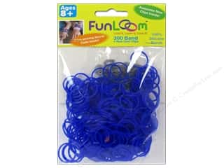 Kids Crafts Summer Fun: FunLoom Silicone Bands Blue 300pc