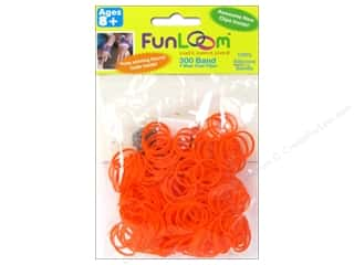 Elastic Clearance Crafts: FunLoom Silicone Bands Orange 300pc