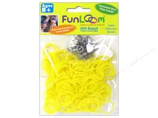 Elastic Clearance Crafts: FunLoom Silicone Bands Yellow 300pc