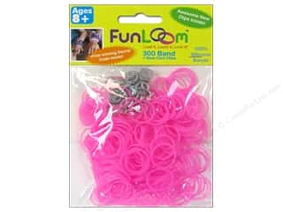 Elastic Clearance Crafts: FunLoom Silicone Bands Glow In The Dark Peach Red 300pc