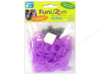 Elastic Clearance Crafts: FunLoom Silicone Bands Glow In The Dark Dream Purple 300pc