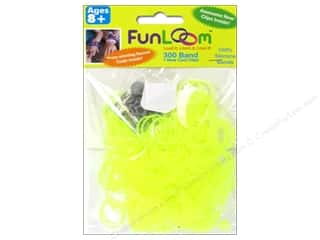 Elastic Clearance Crafts: FunLoom Silicone Bands Neon Yellow 300pc