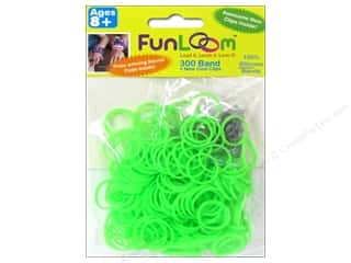 Elastic Clearance Crafts: FunLoom Silicone Bands Neon Green 300pc