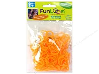Looms Clearance Crafts: FunLoom Silicone Bands Neon Orange 300pc