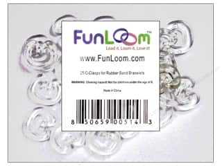 Kids Crafts Summer Fun: FunLoom Accessories Super C Clips for Loom Band Bracelets 25pc