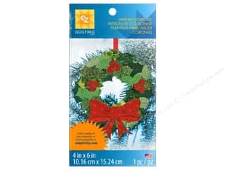 "Wreaths 12"": EZ Quilting Template Shapes Wreath"