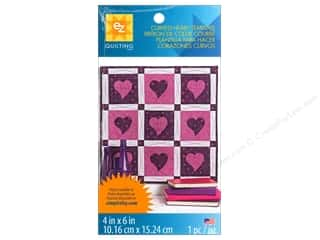 EZ Quilting Template Shape Curved Heart