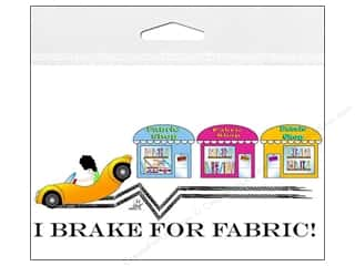 Window Cling: Fabric Fanatics Window Cling I Brake For Fabric