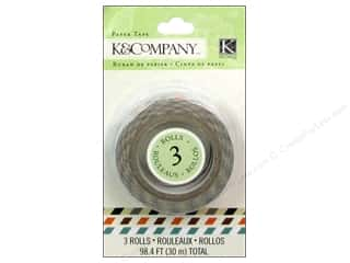 Love & Romance Glues, Adhesives & Tapes: K&Company Tape Tim Coffey Travel Diagonal Stripe 3pc