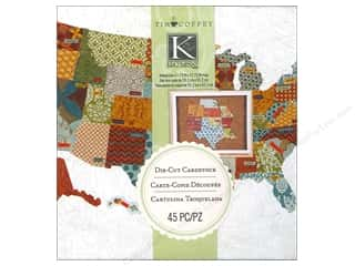 Tim Holtz Paper Die Cuts / Paper Shapes: K&Company Die Cut Tim Coffey Travel Cardstock States